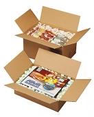 Bølgepapkasser med kassefyld