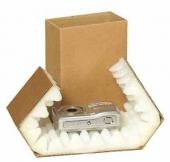 Bølgepap emballage med skumindlæg