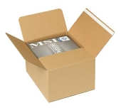 Bølgepap kasser med dobbeltklæbende tape